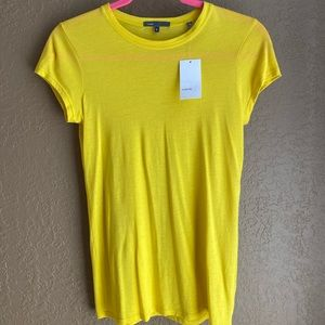 Vince Yellow Fitted Tshirt.